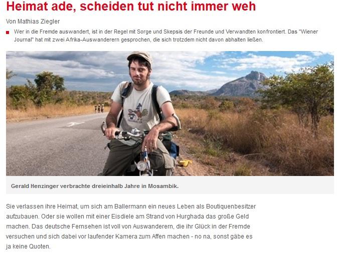 Wiener Zeitung - Heimat Ade